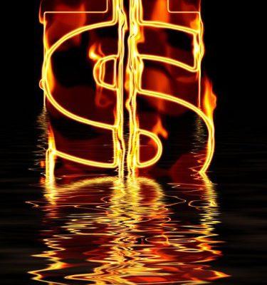 Money, Burning, dollar, currency