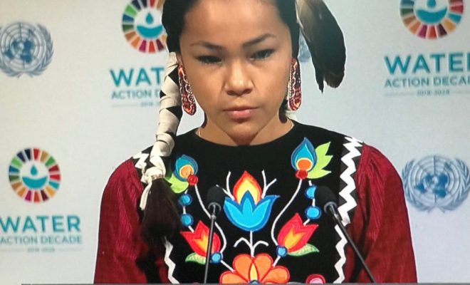 'Warrior Up' to Protect Water, Autumn Peltier Urges UN ...