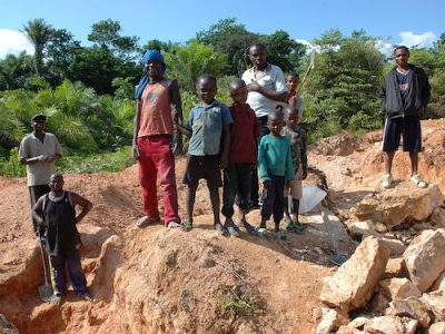 Child labour artisan mining Congo cobalt