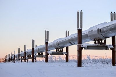 Alaska pipeline winter