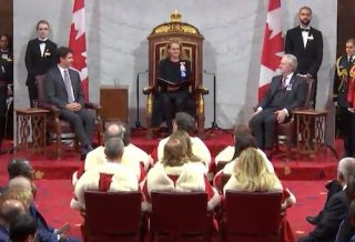 Throne speech Ottawa 2019 climate action emissions Trudeau Payette