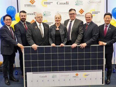 """Summerside """"Prince Edward Island"""" solar + storage"""