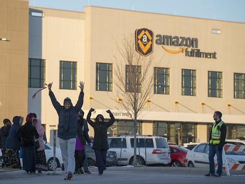 Amazon workers protest Minnesota