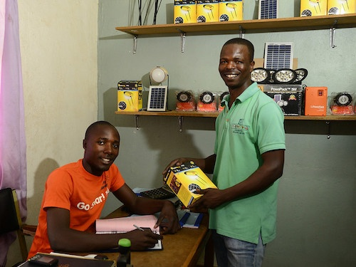SolarAid solar lights Zambia