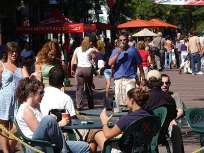 Outdoor dining, Church Street Marketplace